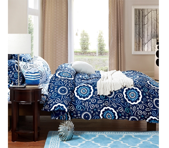 Aqua Notes Twin Xl Comforter