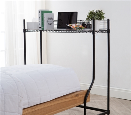 Unique Ways to Organize your Dorm Room Essential Mini Over The Bed Shelf Supreme Black College Furniture