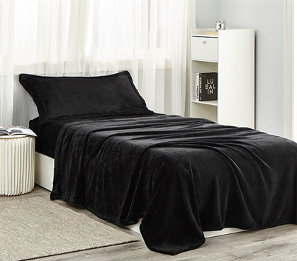 Me Sooo Comfy Twin XL Sheet Set - Black