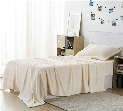 Me Sooo Comfy Twin XL Sheets Ecru Dorm Bedding Extra Long Twin Sheets
