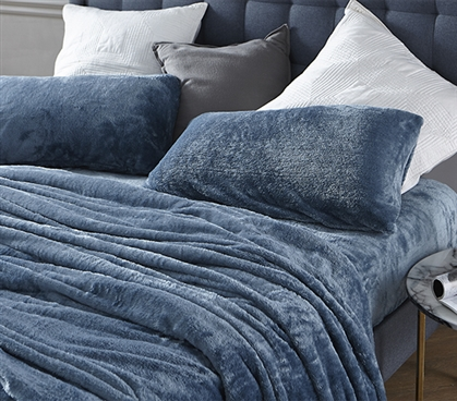 Me Sooo Comfy Twin XL Sheet Set - Smoke Blue