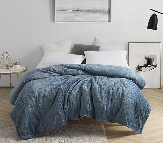Me Sooo Comfya Dorm Blanket Twin Xl Smoke Blue Dorm Bedding Twin Xl Blanket