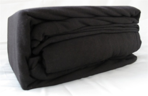 college jersey knit twin xl sheets black