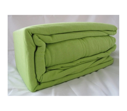 Soft College Jersey Knit Twin XL Sheets - Light Avocado Dorm Bedding