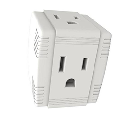 3-Outlet Grounded Cube Adapter - White