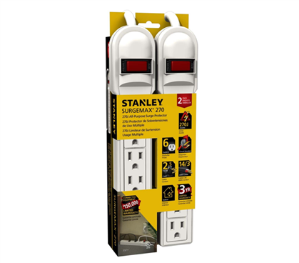 All Purpose Surge Protector (2-Pack) - White