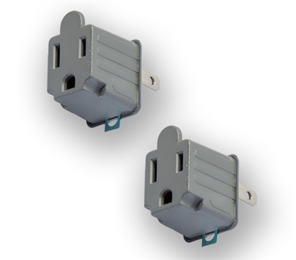 Adapters (3 Prong to 2 Prong) 2-Pack Must Have Dorm Gadgets Dorm Necessities