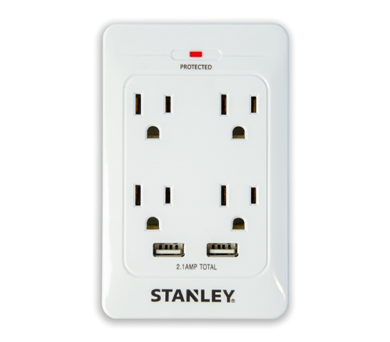 Surge Quad 4 Outlet Surge Protector With 2 Usb Must Have
