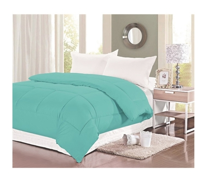 400 TC Natural Cotton Twin XL Comforter - College Ave - Aqua Haze - College Bedding