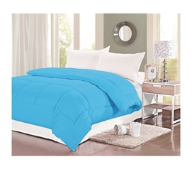 400 TC Natural Cotton Twin XL Comforter - College Ave - Blue