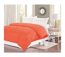 Natural Cotton Twin XL Comforter - College Ave - Orange