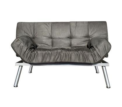 The College Cozy Sofa Mini Futon Gray Dorm Furniture Cheap