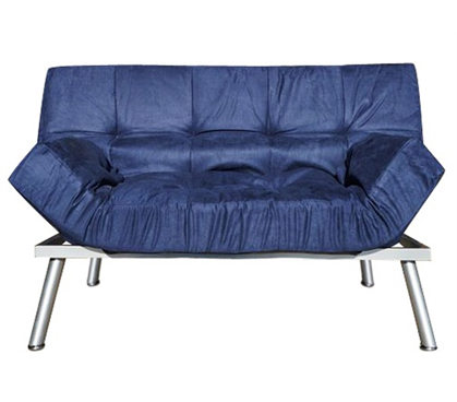 The College Cozy Sofa Mini-Futon Navy Dorm Furniture - Add Seating To Dorm Room