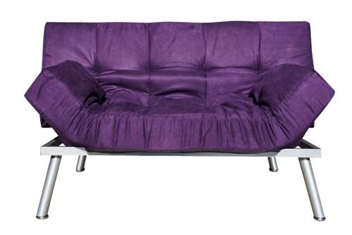 Cozy Sofa Mini Futon Purple Dorm