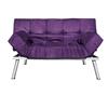 The College Cozy Sofa Mini-Futon Purple Dorm Furniture ...