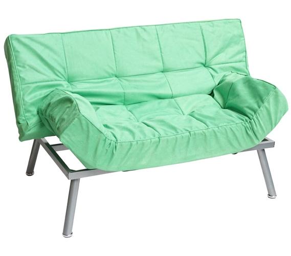 The College Cozy Sofa Mini-Futon Spring Green Dorm ...