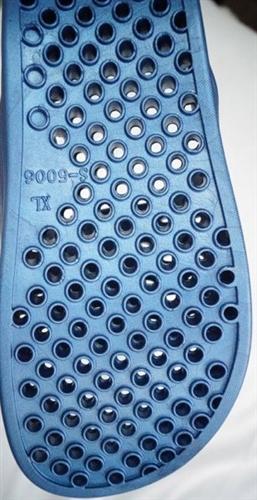 Shower flip flops with holes