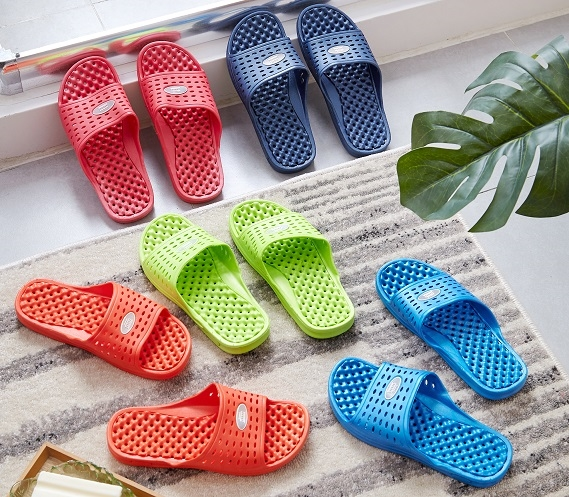 Sandles with holes on the bottom