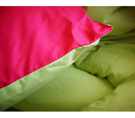 Two Colors To Choose - Pink/Lime Reversible College Comforter - Twin XL - Bedding For College Students