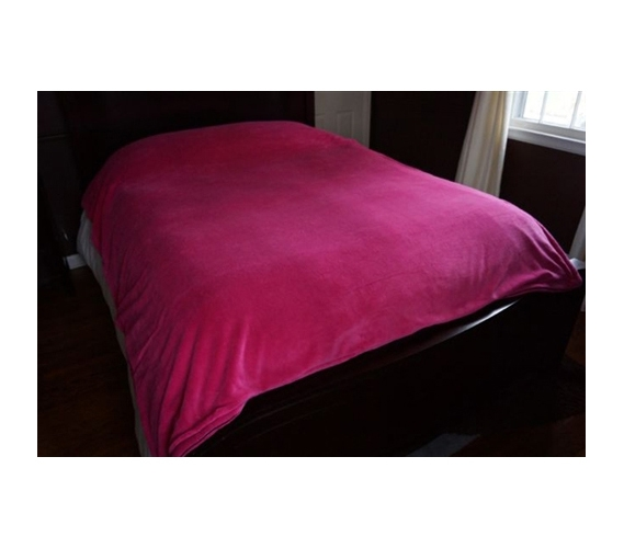 softest college duvet ever 330gsm coral fleece fuchsia
