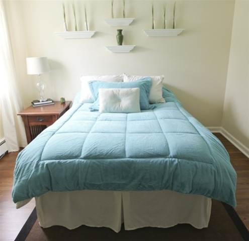 College Plush Comforter Purest Ocean Blue Twin Xl