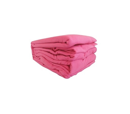 College Jersey Knit Twin XL Sheets - Cherry Pink Dorm Bedding Twin XL Bedding
