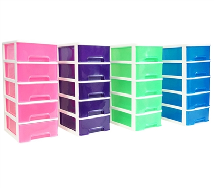 5 Drawer Desktop Organizer Dorm Storage Solutions Dorm Room Storage