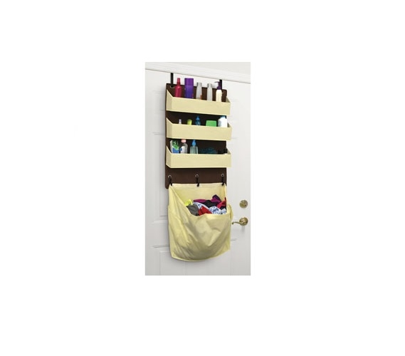 over the door organizer with laundry bag dorm space savers