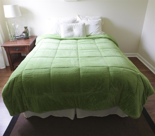 College Plush Comforter Avocado Green Twin Xl Extra