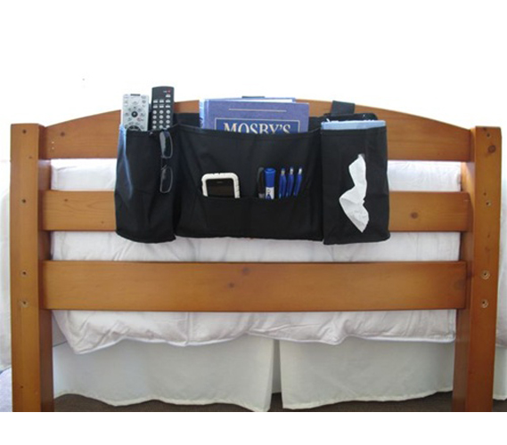 headside caddy for holding items bedside is a must have dorm