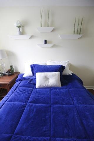 College Plush Comforter Deep Royal Blue Twin Xl