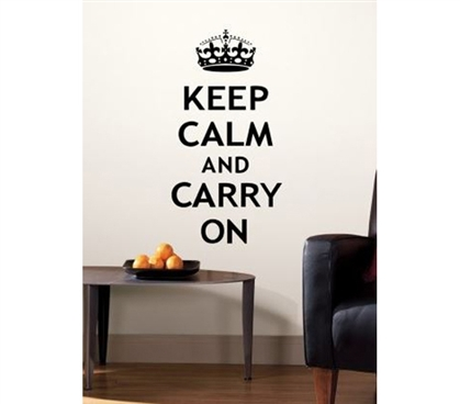 Peel N Stick - Keep Calm And Carry On Decals