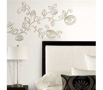 Peel N Stick - Stylized Roses Giant Decal