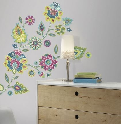 Peel N Stick   Boho Floral Wall Decals