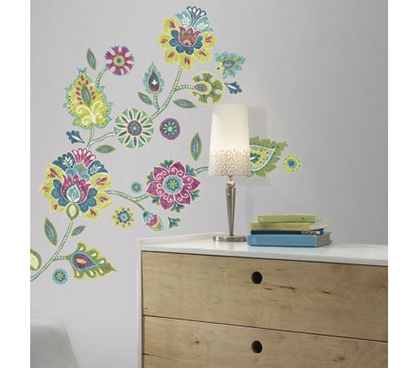 Peel N Stick - Boho Floral Wall Decals