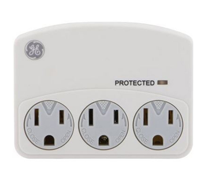 Surge Protector With Lids - 3 Outlets