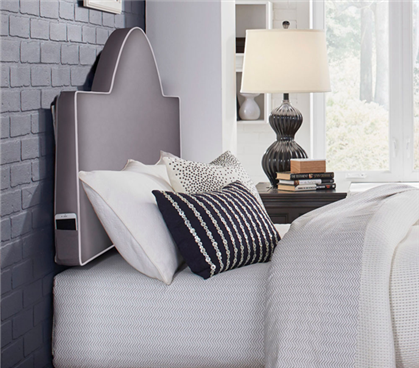 Perfect Fit Round Headboard Pillow - Gray