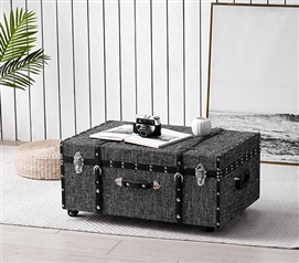 Texture Brand Trunk - Black Threaded White