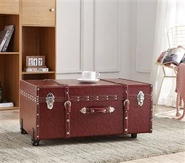 Texture® Brand Trunk - Burgundy Brown