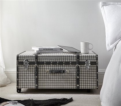 Texture® Brand Trunk - Houndstooth Gray