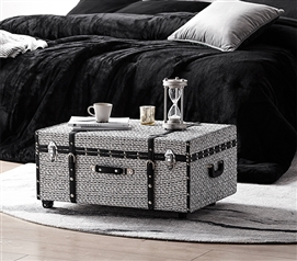 Texture® Brand Trunk - White Threaded Black