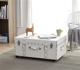 Texture® Brand Trunk - White Threaded Silver