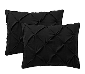 Black Pin Tuck Sham (2-Pack)