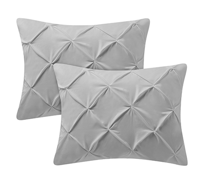 Glacier Gray Pin Tuck Sham (2-Pack)