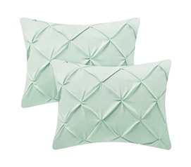 Hint of Mint Pin Tuck Sham (2-Pack)