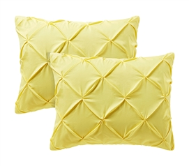 Limelight Yellow Pin Tuck Sham (2-Pack)
