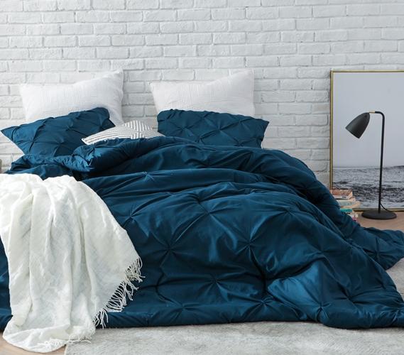 Nightfall Navy Pin Tuck Twin XL Comforter