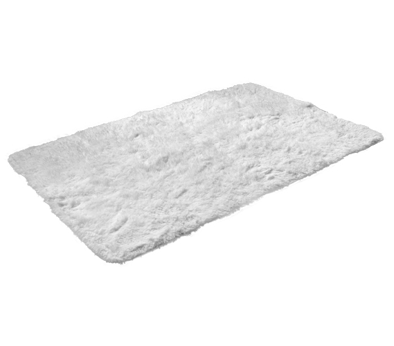 College Plush Rug White Dorm Essentials
