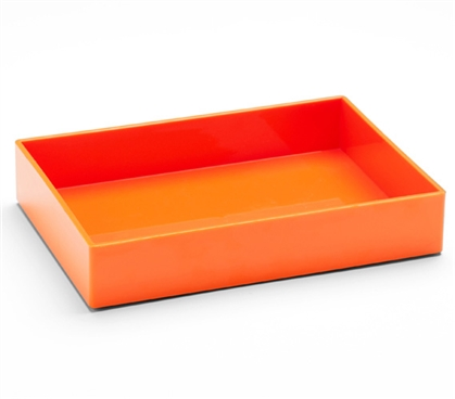 Accessory Tray - Medium - Orange Dorm Essentials College Supplies Dorm Supplies Dorm Room Decor