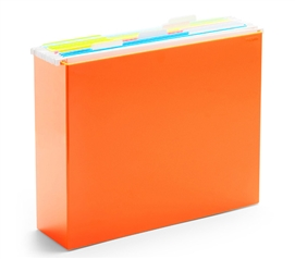 File Box - Orange Dorm Storage Solutions Dorm Organization Must Have Dorm Items